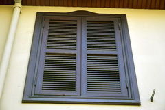 Shuttered oriel window in Kaleici historic quarter of Antalya Royalty Free Stock Photo