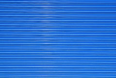 Shuttered roll up metal  blue door Stock Photography