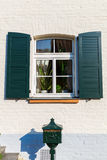 Shuttered window in Bedburg Alt-Kaster, Germany Royalty Free Stock Photos