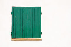 Shuttered window. Stock Image