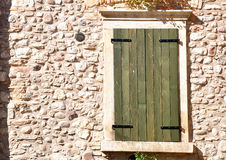 Shuttered window. Royalty Free Stock Images