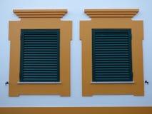 Shuttered windows Stock Photos