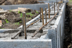 Shuttering block foundation Royalty Free Stock Image