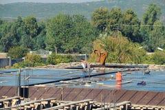Shuttering, lanter lavora lavorare alla costruzione in costruzione Immagini Stock