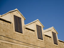 shutters деревянное Стоковые Изображения