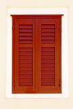 shutters fönstret Fotografering för Bildbyråer
