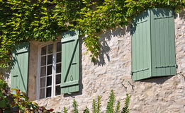 Shutters on a French village home Royalty Free Stock Photos