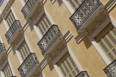 Shutters. Image taken of shutters in a typical andaluz street,  Malaga , spain Royalty Free Stock Photography