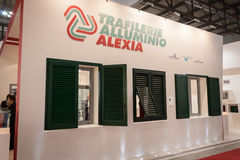 Shutters at Made expo 2013 in Milan, Italy Stock Photo