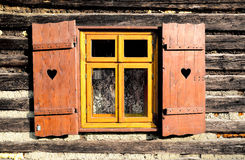 Shutters in an old cottage Royalty Free Stock Photography