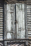 The shutters in an old wooden house. Royalty Free Stock Photo