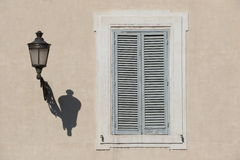 Shutters in Rome royalty free stock photos