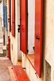 Shutters in row Royalty Free Stock Image