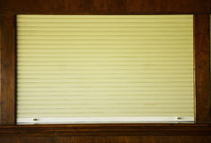Shutters on the shop window Royalty Free Stock Photo