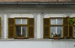 Shutters in Sibiu Romania Stock Photo