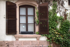 Shutters on window Royalty Free Stock Image
