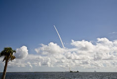 Shuttle. Space shuttle launch over the Indian River in Florida royalty free stock photos
