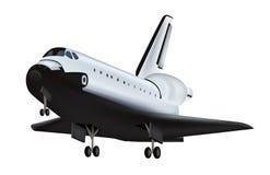 Shuttle. Illustration of a space shuttle on white royalty free illustration