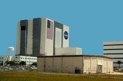 Shuttle Assembly building at Cape Canaveral Florida. The Vehicle Assembly Building (VAB) at the Kennedy Space Centre, Cape Canaveral, Florida, USA Stock Images