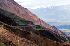 Shuttle Bus in Denali National Park Royalty Free Stock Photo