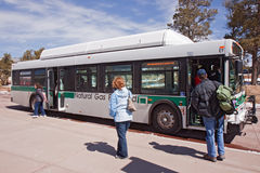 A shuttle bus at Grand Canyon Visitor's center Royalty Free Stock Photography