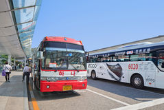 Shuttle bus at Icheon Airport, Sseoul, South Korea. Royalty Free Stock Photo