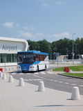 Shuttle bus, Lublin airport, Poland Royalty Free Stock Image