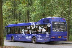 Shuttle bus to the former camp site Westerbork Royalty Free Stock Photography