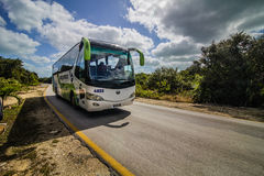 Shuttle bus for Tourists in Cuba Royalty Free Stock Photo