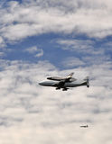 Shuttle Discovery Over Washington 1 Royalty Free Stock Photo
