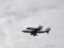 Shuttle Discovery Over Washington 2 Stock Image