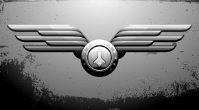 Shuttle emblem Stock Image