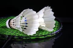 Shuttle en badminton Royalty-vrije Stock Foto's
