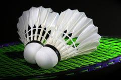 Shuttle en badminton Stock Afbeelding