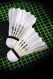 Shuttle en badminton Royalty-vrije Stock Foto