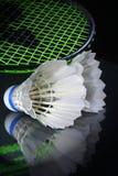 Shuttle en badminton Stock Afbeeldingen