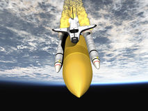 Shuttle leaving earth Stock Images