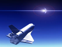 Shuttle In The Sky 71 Royalty Free Stock Photography