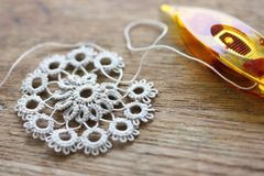 Shuttle tatting lace Royalty Free Stock Photos
