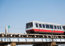 Shuttle Train Under Blue Sky Royalty Free Stock Image