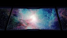 On Shuttle Traveling Into Large Galaxy stock footage