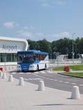 Shuttlebus, Lublin-Flughafen Lizenzfreies Stockbild