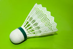 Shuttlecock. White shuttlecock for playing badminton, equipment for game Royalty Free Stock Photography