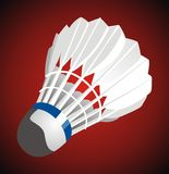 Shuttlecock. A shuttlecock is a high-drag projectile used in the sport of badminton Royalty Free Stock Images