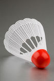 Shuttlecock and Badminton 11. Shuttlecock and badminton close up white and red 11 Stock Photo