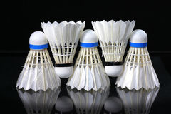 Shuttlecock and badminton Royalty Free Stock Photography