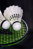 Shuttlecock and badminton Royalty Free Stock Image