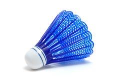 shuttlecock de bleu de birdie de badminton Photographie stock