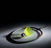 Shuttlecock e badminton Imagem de Stock Royalty Free