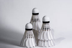 Shuttlecock. (English:  also called bird or birdie) [1] is to hit the ball, which has a high resistance. For use in badminton This is a funnel-shaped opening royalty free stock images